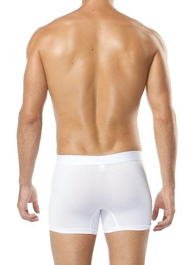 SVM 2'Li Likralı Boxer Beyaz